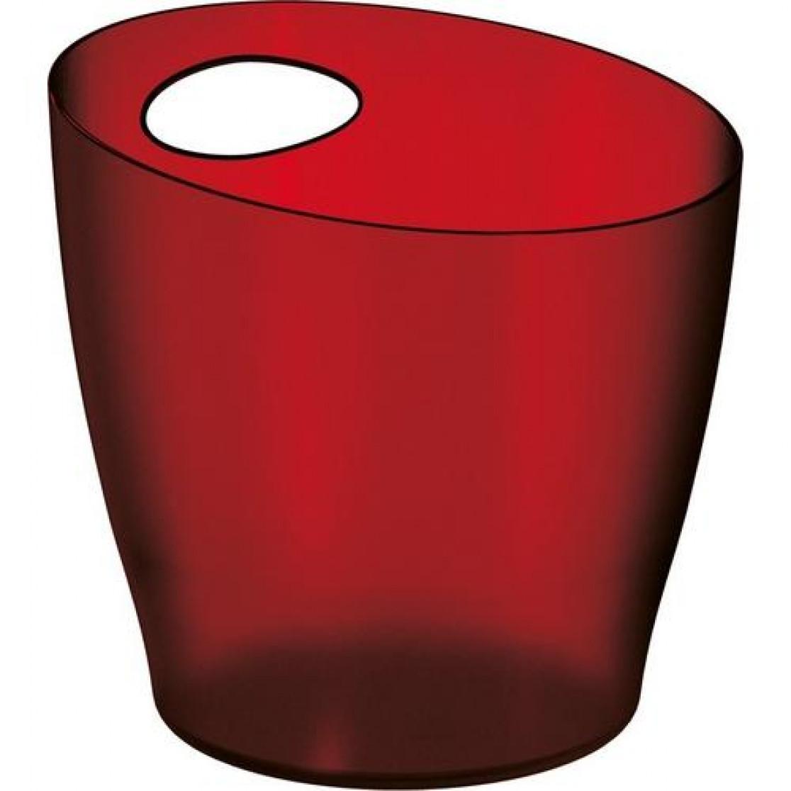 Balde De Gelo 6L Vermelho Poliestireno - Uz Utilidades