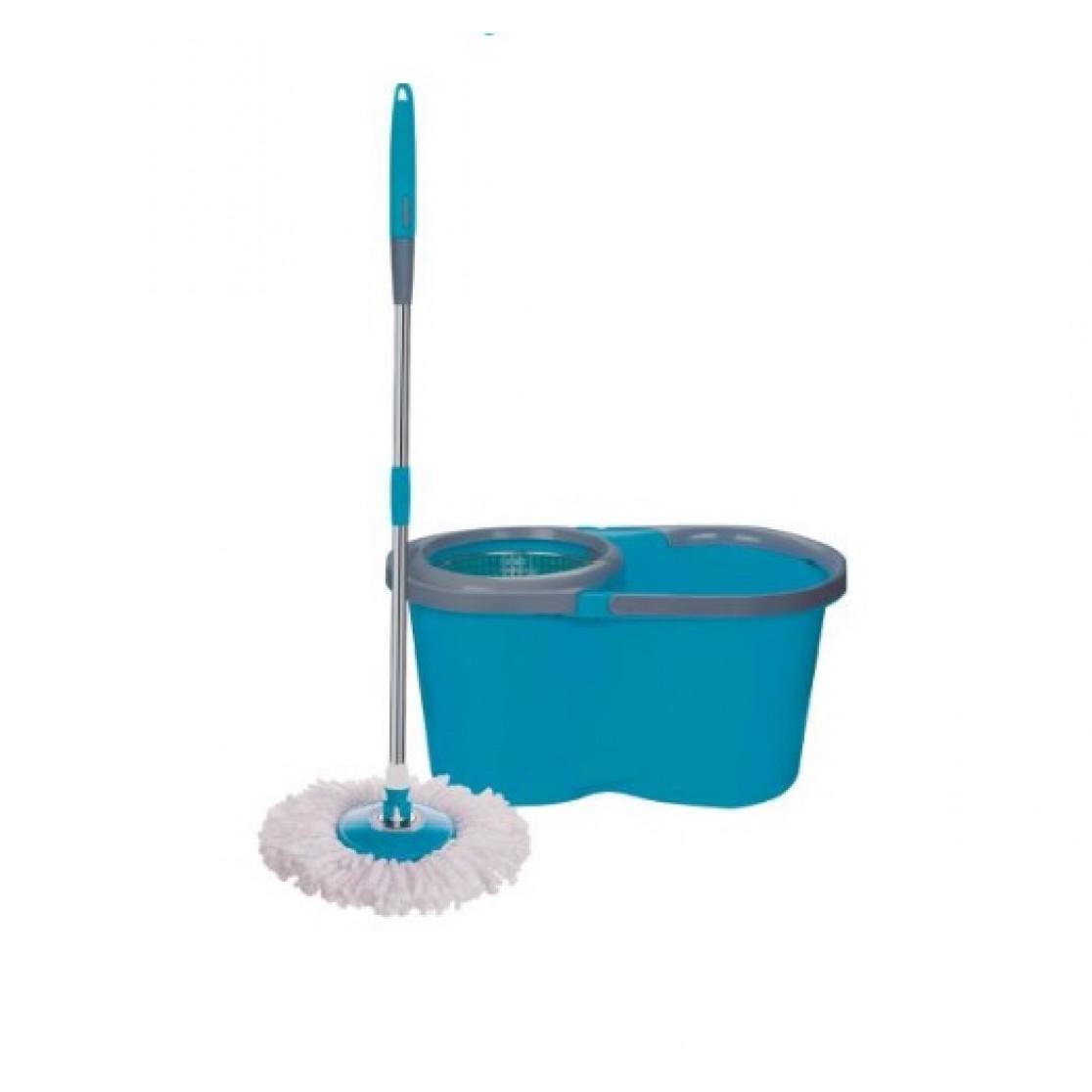 Balde centrifugador com mop esfregão 12l