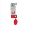 Colher de Arroz - Silicone Vermelho - Cabo Inox - 36 cm